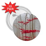 Magic forest in red and white 2.25  Buttons (10 pack)  Front