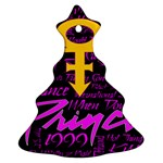 Prince Poster Christmas Tree Ornament (2 Sides) Back