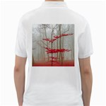Magic forest in red and white Golf Shirts Back