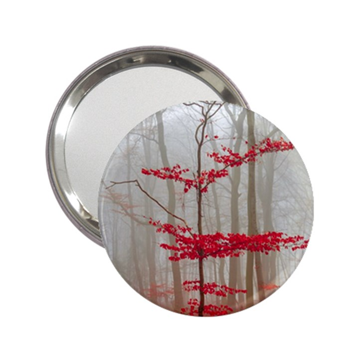Magic forest in red and white 2.25  Handbag Mirrors