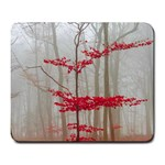 Magic forest in red and white Large Mousepads Front
