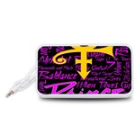 Prince Poster Portable Speaker (White)  Front