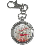Magic forest in red and white Key Chain Watches Front