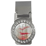 Magic forest in red and white Money Clips (CZ)  Front