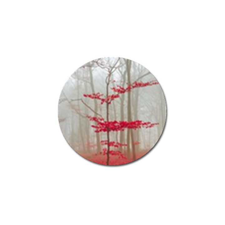Magic forest in red and white Golf Ball Marker
