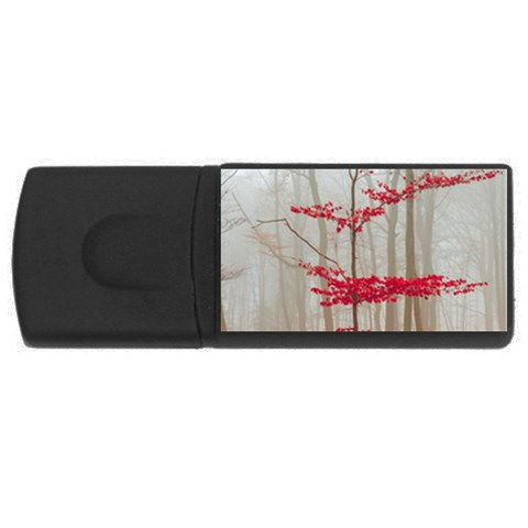 Magic forest in red and white USB Flash Drive Rectangular (1 GB)