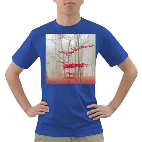 Magic forest in red and white Dark T-Shirt