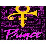 Prince Poster WORK HARD 3D Greeting Card (7x5) Front