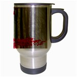 Magic forest in red and white Travel Mug (Silver Gray) Right