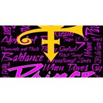 Prince Poster Laugh Live Love 3D Greeting Card (8x4) Back