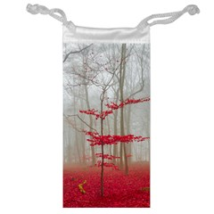 Magic forest in red and white Jewelry Bags