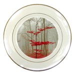 Magic forest in red and white Porcelain Plates Front