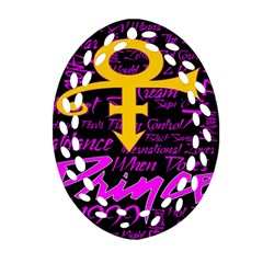 Prince Poster Oval Filigree Ornament (2-Side)
