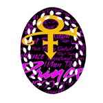 Prince Poster Oval Filigree Ornament (2-Side)  Front