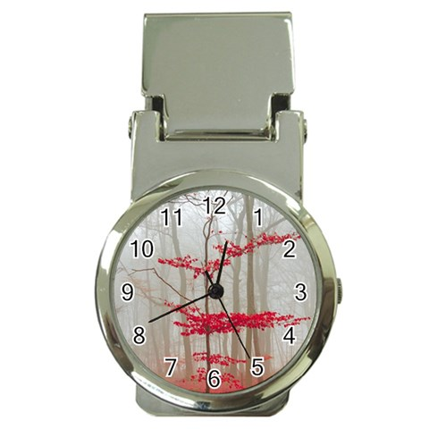 Magic forest in red and white Money Clip Watches