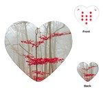 Magic forest in red and white Playing Cards (Heart)  Front