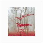 Magic forest in red and white Collage Prints 18 x12 Print - 1