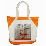 Magic forest in red and white Accent Tote Bag Front