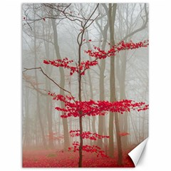 Magic forest in red and white Canvas 12  x 16