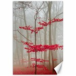 Magic forest in red and white Canvas 12  x 18   18 x12 Canvas - 1
