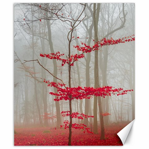 Magic forest in red and white Canvas 20  x 24