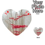 Magic forest in red and white Playing Cards 54 (Heart)  Front - Diamond3