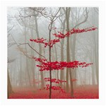 Magic forest in red and white Medium Glasses Cloth (2-Side) Back