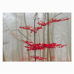 Magic forest in red and white Large Glasses Cloth