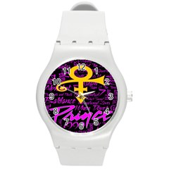 Prince Poster Round Plastic Sport Watch (M)