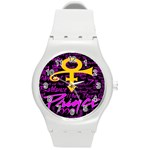 Prince Poster Round Plastic Sport Watch (M) Front