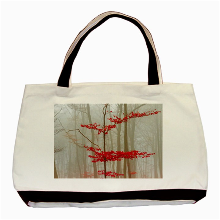 Magic forest in red and white Basic Tote Bag (Two Sides)