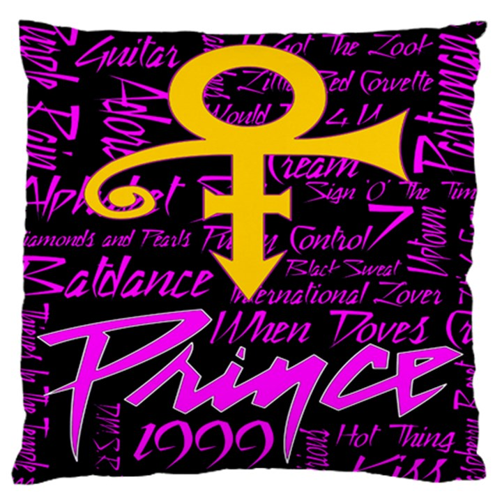 Prince Poster Large Cushion Case (One Side)