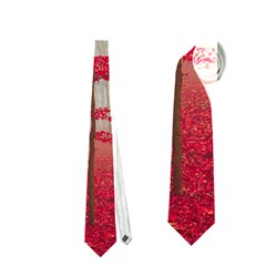 Magic Forest In Red And White Neckties (one Side)
