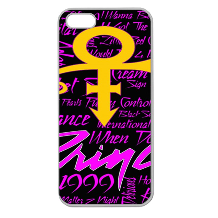 Prince Poster Apple Seamless iPhone 5 Case (Clear)