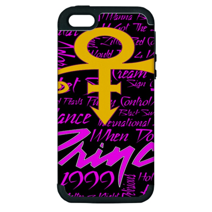 Prince Poster Apple iPhone 5 Hardshell Case (PC+Silicone)