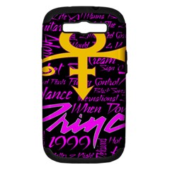 Prince Poster Samsung Galaxy S III Hardshell Case (PC+Silicone)