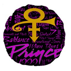 Prince Poster Large 18  Premium Round Cushions