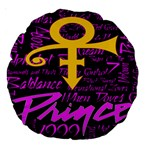 Prince Poster Large 18  Premium Round Cushions Back