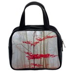 Magic forest in red and white Classic Handbags (2 Sides) Front