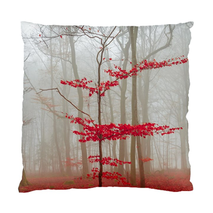 Magic forest in red and white Standard Cushion Case (Two Sides)