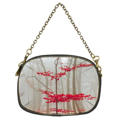 Magic forest in red and white Chain Purses (Two Sides)