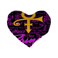 Prince Poster Standard 16  Premium Heart Shape Cushions