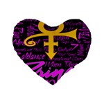 Prince Poster Standard 16  Premium Heart Shape Cushions Front