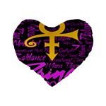 Prince Poster Standard 16  Premium Heart Shape Cushions Back