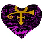 Prince Poster Large 19  Premium Heart Shape Cushions Front