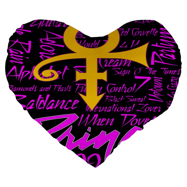 Prince Poster Large 19  Premium Heart Shape Cushions