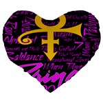 Prince Poster Large 19  Premium Heart Shape Cushions Back