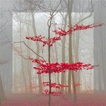 Magic forest in red and white Mini Canvas 6  x 6  6  x 6  x 0.875  Stretched Canvas