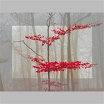 Magic forest in red and white Mini Canvas 6  x 4  6  x 4  x 0.875  Stretched Canvas