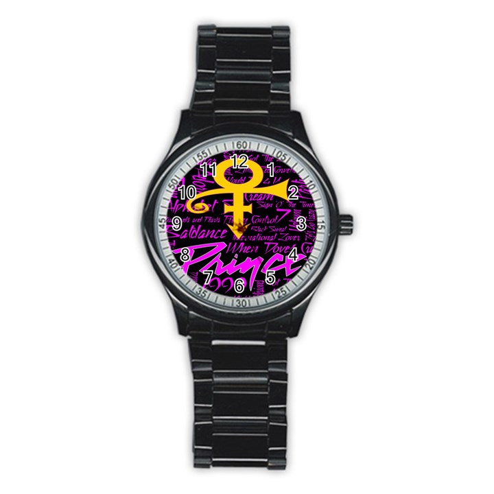 Prince Poster Stainless Steel Round Watch